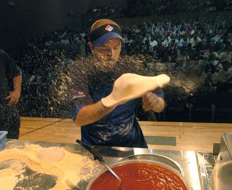 Domino's fastest pizza maker competition