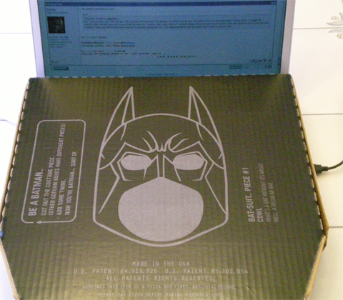 Batman pizza box 3