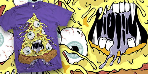 pizza-face monster A - shirt